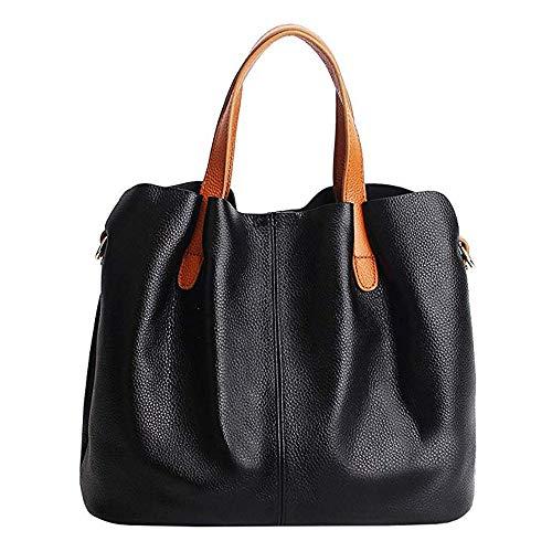 Women Casual Handbags, PU Leather Hobo Satchel Top Adjustable Tote Shoulder Bag
