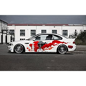 Full color car auto vinyl decal art afro samurai blood sun both sides va3