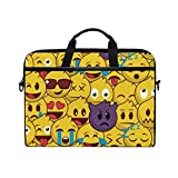 TropicalLife Laptop Bag Yellow Funny Emoji Face Lightweight Briefcase Shoulder Messenger Bag Laptop Case Sleeve for 11.6-15 inch MacBook Pro, MacBook Air Laptop and Tablet