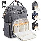 Conleke Diaper Bag Backpack for Baby Care, Multi-Functional Waterproof Travel Backpack Nappy Tote