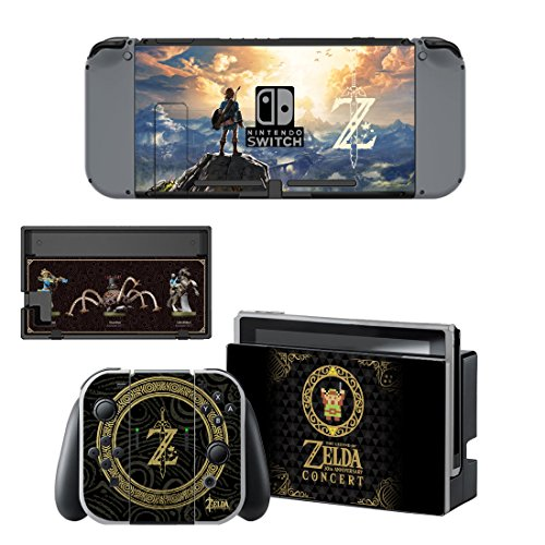 Adventure Games – NINTENDO SWITCH – Zelda, 30th Anniversary Limited Edition – Vinyl Console Skin Decal Sticker + 2 Controller Skins Set