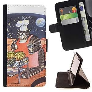 Momo Phone Case / Flip Funda de Cuero Case Cover - Enorme gato Espacio Arte divertidas rayas gordas; - Samsung Galaxy S6 Active G890A
