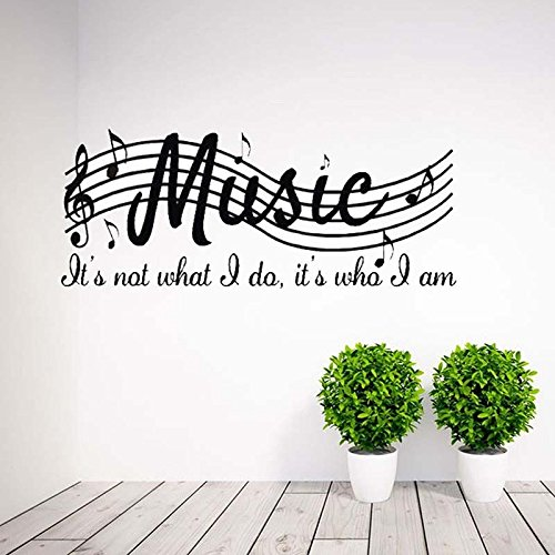 Shopline Wall Music Musical Stickers, Removable Fashion Art Mural Music Decal for Room Choirs Gala Decoration
