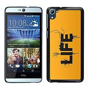 Caucho caso de Shell duro de la cubierta de accesorios de protección BY RAYDREAMMM - HTC Desire D826 - VIDA