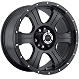 Vision Assassin 17 Matte Black Wheel / Rim 6x5.5 with a 25mm Offset and a 106.2 Hub Bore. Partnumber 396-7883MB25
