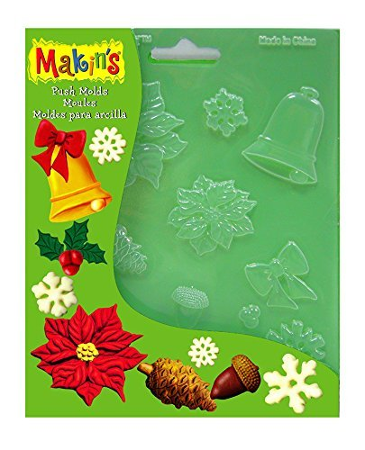 Makin's Push Clay Molds, Christmas Nature Makin' s Push Clay Molds 39030102