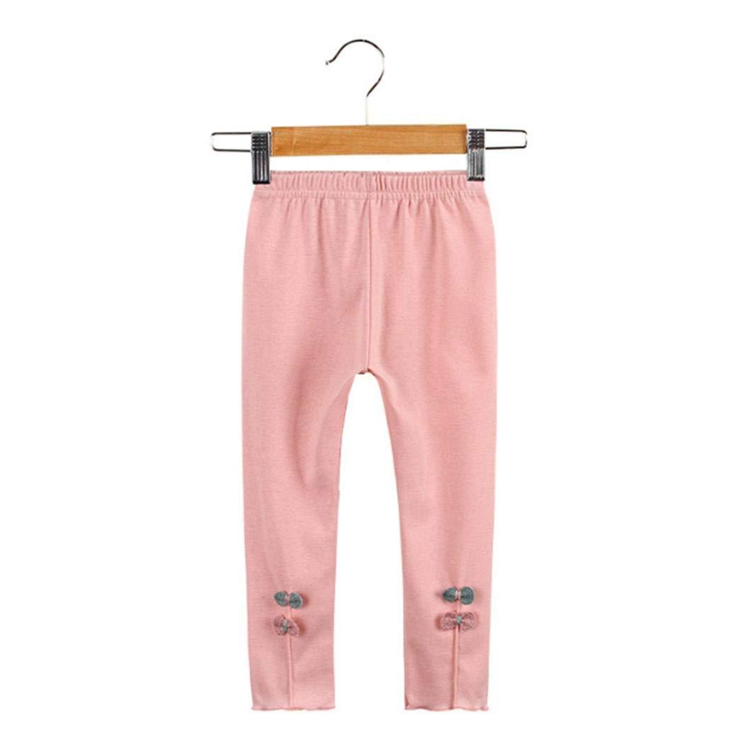 XioNiu Girls Fashion Leggings Cute Bow-Knot Print Candy-Colored Pants Leggings
