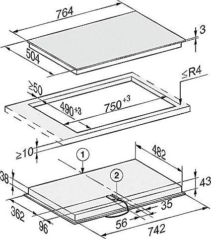 Miele KM 6542 FR - Placa de vitrocerámica (75 cm): Amazon.es ...