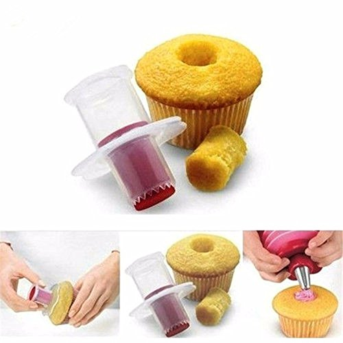 SuperStores New Kitchen Cupcake Corer Plunger Cutter Cake Pastry Decorating Divider Mold Kitchen Baking - Mall Keystone Stores