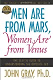 Men Are from Mars, Women Are from Venus, John Gray, 0060574216