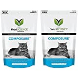 Vetri Science Composure Calming Formula for Cats 2PACK (60 Total Bite-Sized Chews) with Bonus Feline Health Tracker