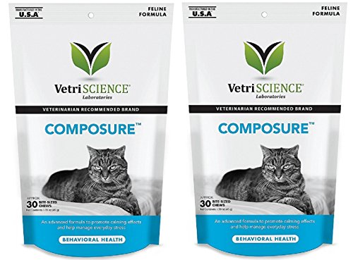 Vetri Composure for Cats Size: Pack of 2 (Total 60 Bite-Sized Chews)
