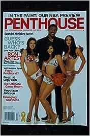 PENTHOUSE US 2005 12 DECEMBER COVER RON ARTEST GINGER JOLIE ...