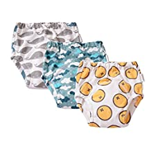 Babyfriend Baby Infant Toddler 3 Pack Assortment 100% Cotton Training Pants,Cloth Underwear