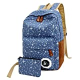 Teenagers Canvas Backpack School Bags Mochila Escolar, Outsta Schoolbag Backpack Classic Basic Casual Daypack Multicolor travel (Blue)