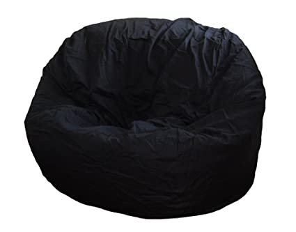 Fine Ahh Products Black Organic Cotton Large Bean Bag Chair Caraccident5 Cool Chair Designs And Ideas Caraccident5Info