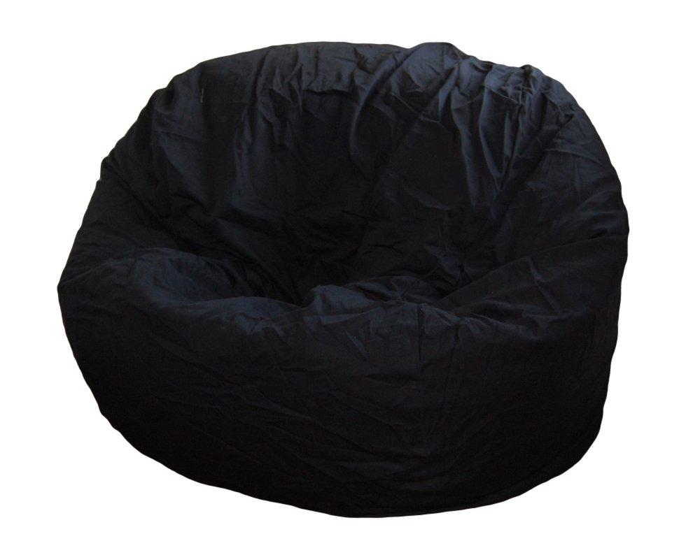 Ahh! Products Black Organic Cotton Large Bean Bag Chair