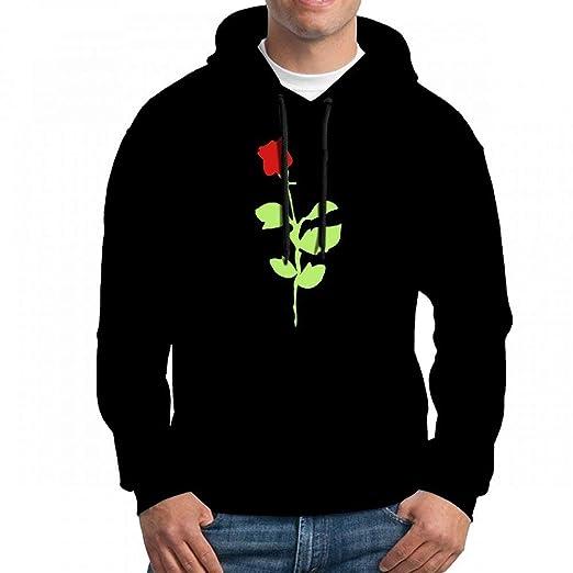 46d2632606 KKWORLD Sweatshirt Hoodie Men Timeless Red Rose Hoodies Sweatshirt at  Amazon Men's Clothing store: