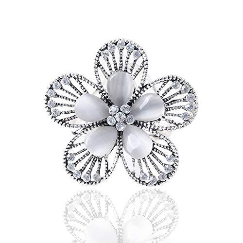 Scarf Ring Clip Buckle Scarf Clip Flower Buckle