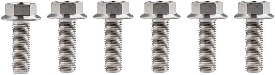 Yaruijia Titanium Bolt DIN6921 M10 x 30 mm Flanschkopf Sechskantschrauben Teilung 1,25 mm 5 St/ück