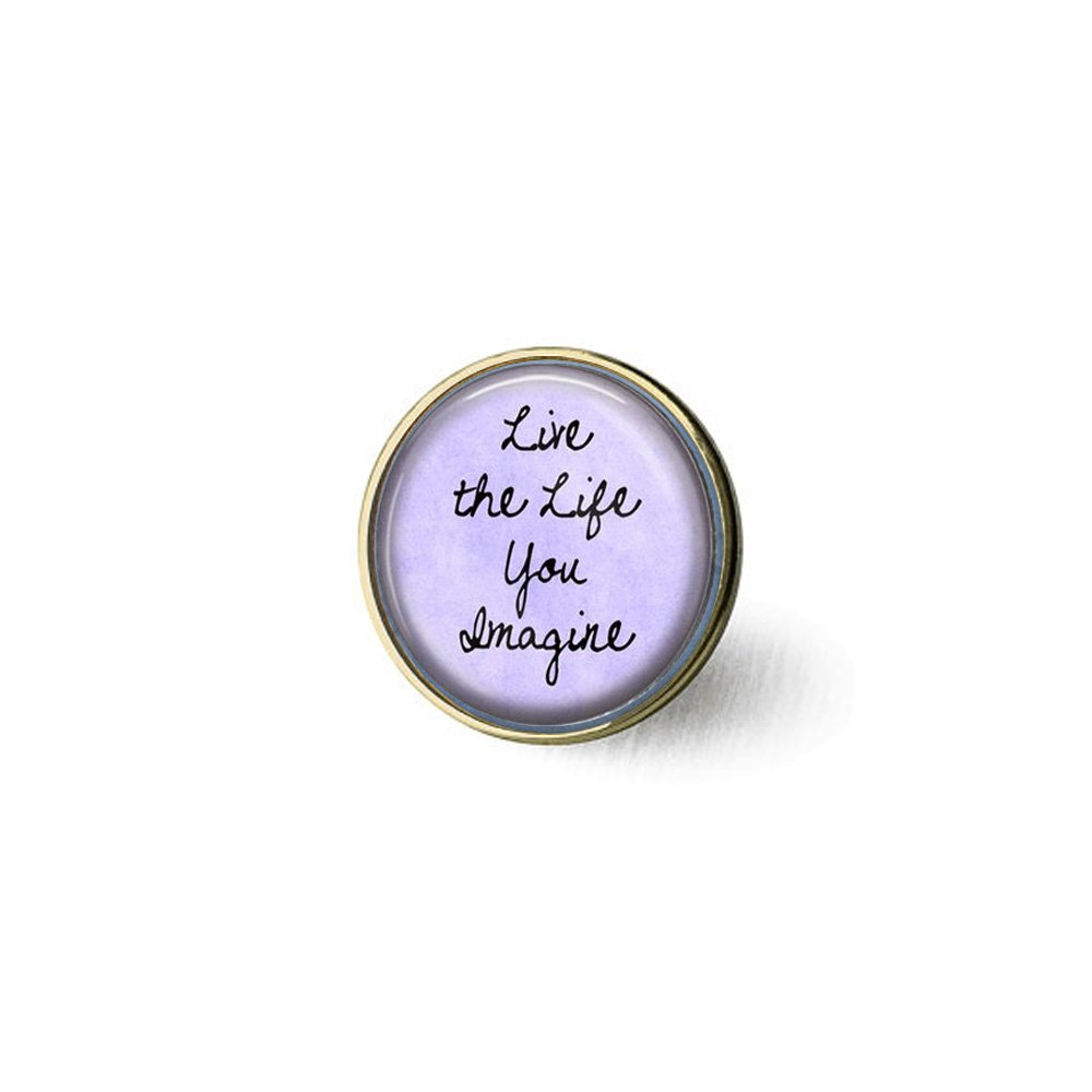 Inspirational Quote Jewelry - Live The Life You Imagine - Mensaje ...