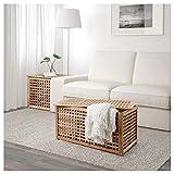 IKEA ASIA HOL Storage Table, Acacia, 38.6 x 19.7
