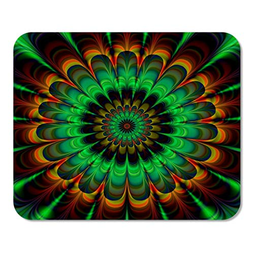 - Suike Mousepad Computer Notepad Office Brown Fractal Abstract Flower in Verdigris Colors Digitally Rendered Home School Game Player Computer Worker 9.5x7.9 Inch