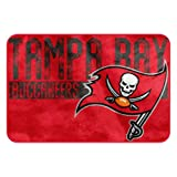 The Northwest Company NFL Tampa Bay Buccaneers Embossed Memory Foam Rug, One Size, Multicolor