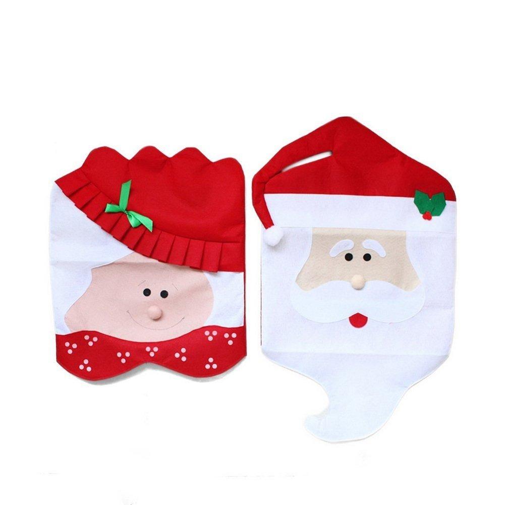 Treestar cena di Natale Decorazioni per feste a tema hotel coppia della sedia 2PCS