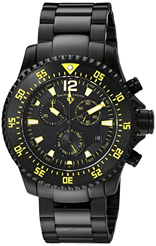 Swiss Legend Men's 10063-BB-11-YA Sergeant Chronograph Black Dial Black Ion-Plated Stainless Steel Watch