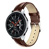 Compatible Samsung Galaxy Watch 46mm Band Leather Replacement Strap Wristbands Fits 140-205mm Wrist Replacement Band for Samsung Galaxy Watch 46mm, TLT Retail (Brown)
