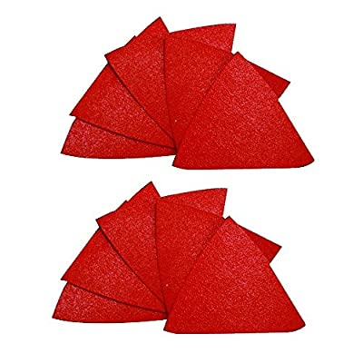 2-7/8 in. x 2-7/8 in. 100 Grit Medium Triangle Detail Sanding Sheet with Stickfast Backing (10-Pack)