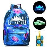 Gash Hao Fortnite Backpack College School Bookbag Anti Theft Luminous Travel Laptop Bag