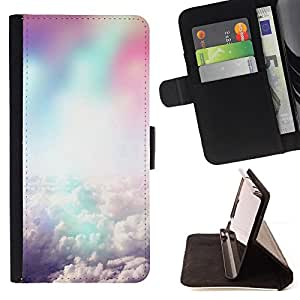 DEVIL CASE - FOR Samsung Galaxy S3 III I9300 - Colorful clouds - Style PU Leather Case Wallet Flip Stand Flap Closure Cover