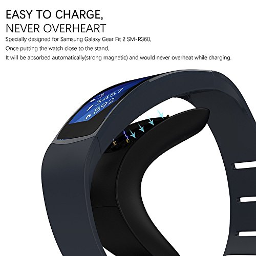 Fitian Gear Fit 2 Pro/Fit 2 Charger,Portable Gear Fit 2 Charger Stand Replacement Charging Docking Station Cradle for Samsung Galaxy Gear Fit2 Pro SM-R365 / Gear Fit 2 SM-R360 Smart Watch by Fitian (Image #2)
