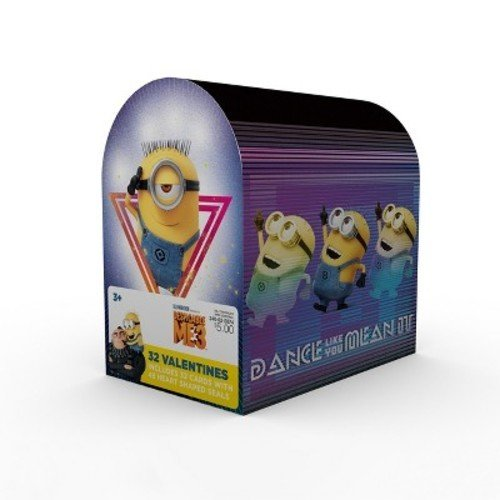 Despicable Me 3 Minions Valentine Cards for Kids with Seals and Mailbox - Pkg. of 32 (39237)]()