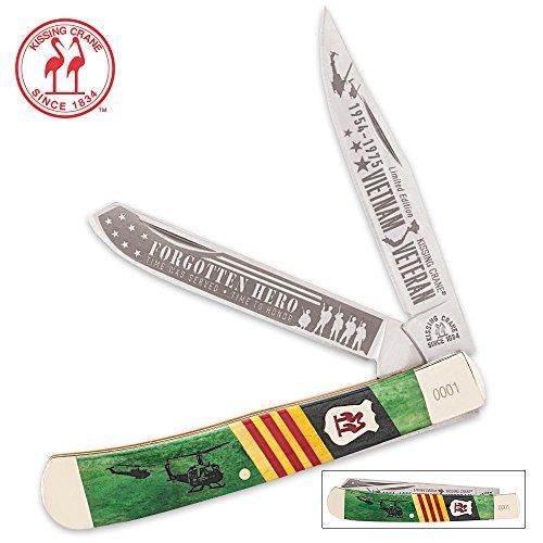 Kissing Crane Limited Edition 2016 Vietnam Veteran Trapper Folding Pocket Knife ()