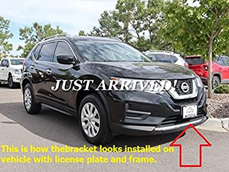 I-Match Auto Parts Front License Plate Bracket Tag Holder Replacement For 2014-2016 Nissan Rogue NI1068117 962104BA0A Black Textured