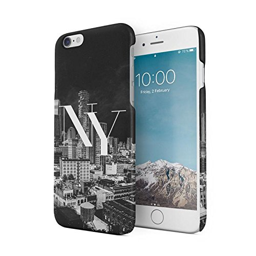NY New York City Night Lights Protective Hard Plastic Snap-On Phone Case  Cover For iPhone 6 Plus / iPhone 6s Plus