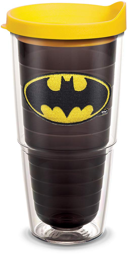 Tervis 1084018 Batman Tumbler with Emblem and Yellow Lid 24oz Quartz