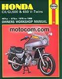 H442 Haynes Honda CX GL 500 650 Twins 1978-1986 Motorcycle Repair Manual