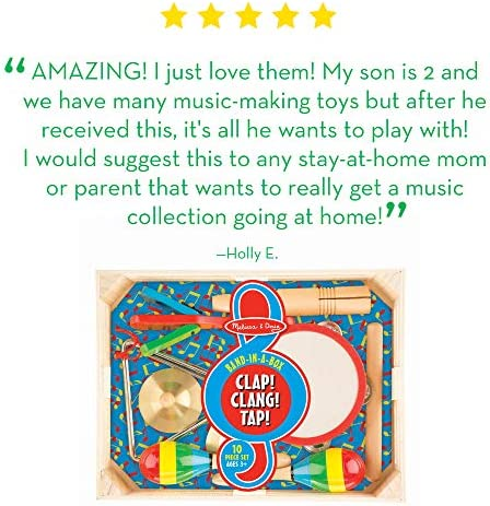 toys, games, learning, education, musical instruments,  drums, percussion 11 discount Melissa & Doug Band-in-a-Box Clap! Clang promotion