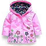 AMSKY Baby Clothes Boy 12-18 Months Cheap,Girls Clothe Jacket Kids Raincoat Coat Hoode Outerwear Children Clothing Jacket,Pink,110