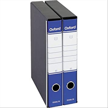 Esselte Registratori Oxford Azul - Carpeta (Azul, 5 cm, 230 mm, 300 mm): Amazon.es: Oficina y papelería