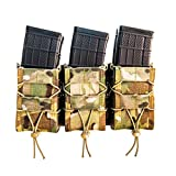 High Speed Gear MOLLE Triple X2R Taco Shingle, Holds 6 Rifle Mags, Multicam