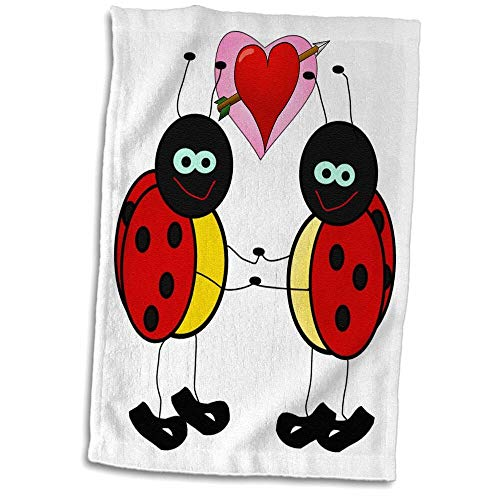 Symple Stuff 2 Standing Ladybugs with Heart Hand Towel from Symple Stuff
