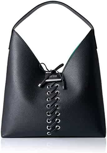GUESS Bobbi Inside Out Hobo-Black/Aqua