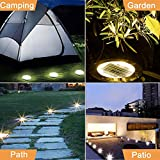 Dekugaa Solar Ground Lights, Disk Lights Waterproof in-Upgraded Outdoor Garden Waterproof Bright in-Ground Lights for Lawn Pathway Yard Driveway, with 8 LED