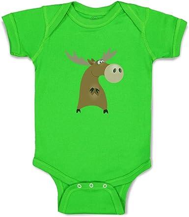 Baby Bodysuits Cotton Cartoon New Eve Elk Long Sleeve Toddler Boys Girls Bodysuit