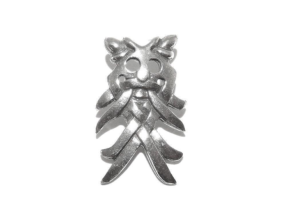Máscara de Dios vikingo Pin de broche odín: Amazon.es: Joyería
